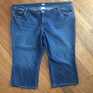 Old Navy Low Waist Denim Capris with Stretch